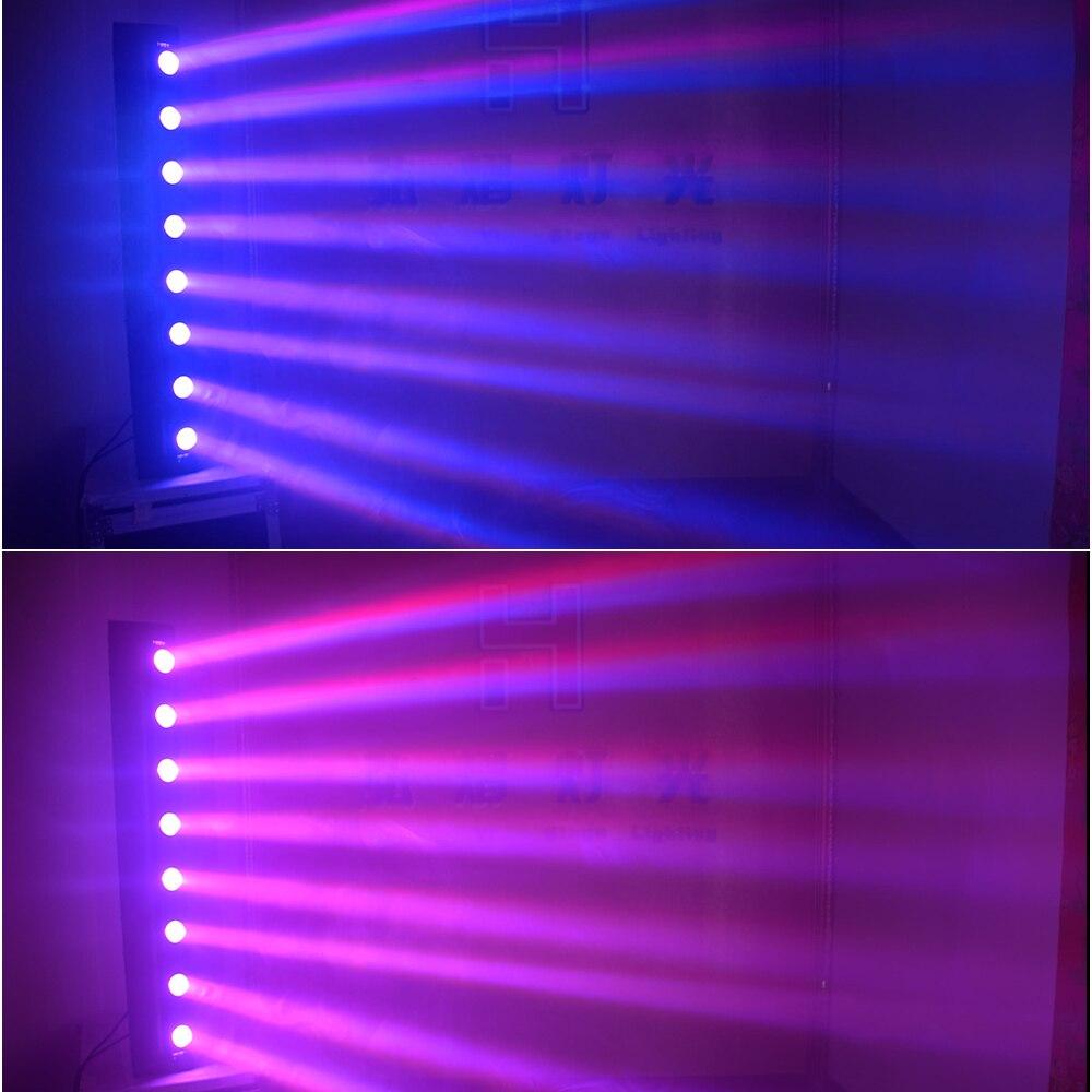 dj light 8x12W RGBW 4in1 Beam LED Moving Head DMX Stage Lights professional lighting equipment with flight case (2pcs/lot) - 6