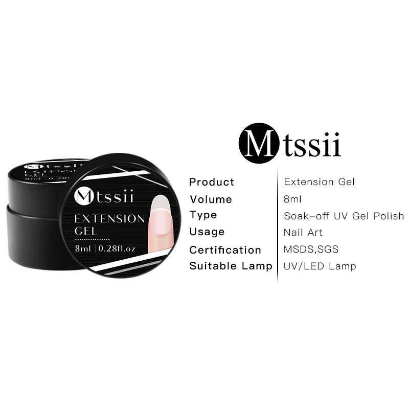 Mtssii 8 Ml Kuku Gel Set Nail Glitter Payet Ujung Kuku Uv Gel Sikat Kit Cepat Bangunan untuk Kuku ekstensi Jelly Gel