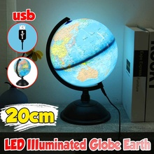 Led-Light Geography-Globes Miniatures Desktop-Decoration Office Aid Kids 20cm Map