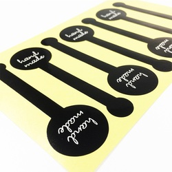 70 Pcs/lot Handmade Black Sticker Vintage Label Stickers DIY Hand Made For Gift Cake Baking Scrapbooking Sealing Stickers