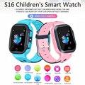 Детские Смарт-часы S16 с функцией телефонных звонков, GPS-трекер, SOS-трекер, будильник с защитой от потери, Смарт-часы с SIM-картой 2G, GPS-трекер с оп...