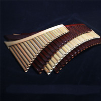 Romania pan flute professional panflute 25 pipes / 22 pipes xiao flute with aluminum case C D F G key left right hand