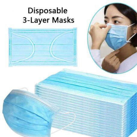 50PCS High Quality Mask Earloop Face Mouth Masks Three-layer Protective Mask Anti-pollution Mask Anti-dust Mask 2