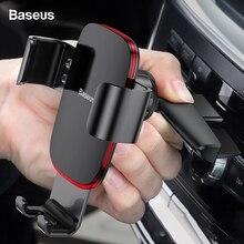 Baseus Schwerkraft Auto Handy Halter für Auto CD Slot Air Vent Halterung Telefon Halter Stehen für iPhone X Samsung Metall handy Halter