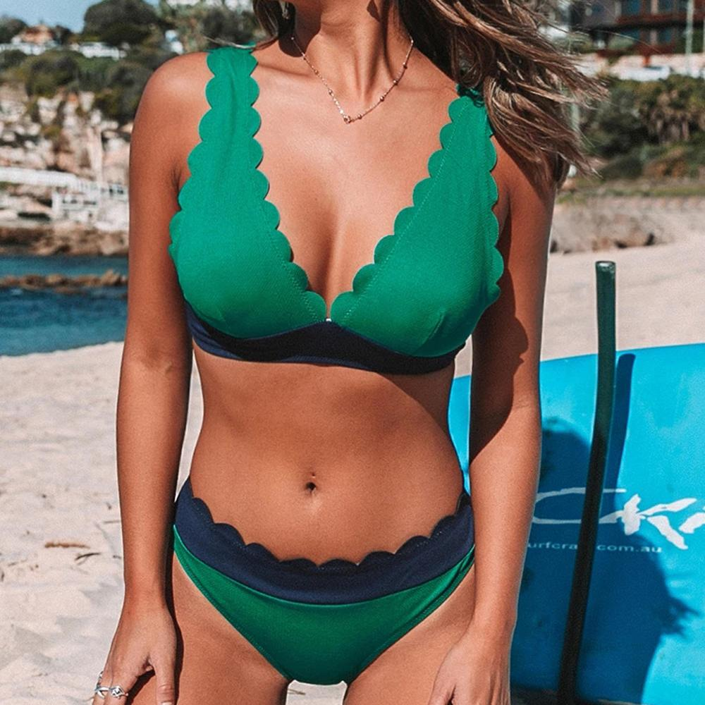 Women Swimwear Bikini-Set Female Sexy Plus-Size 3XL -E Lady Ladies