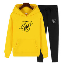 Sik Silk Women Winter 2 Piece Set Print Hoodies+Pants Sportwear Women's Sports Suit Hooded Sweatshirt Set Female Jogging