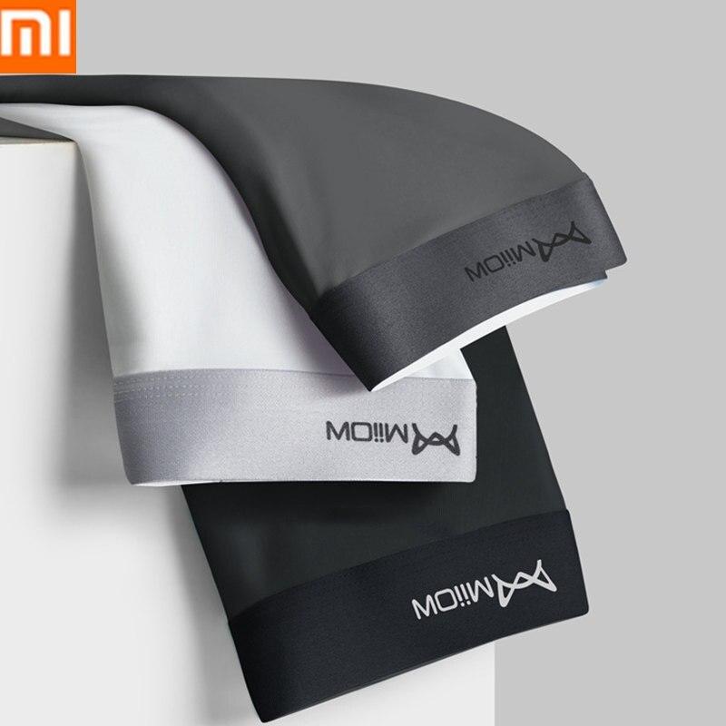 Мужские трусы боксеры Xiaomi Mijia 3 шт./лот, антибактериальные дышащие трусы из ледяного шелка, ААА, нижнее белье Смарт-гаджеты      АлиЭкспресс
