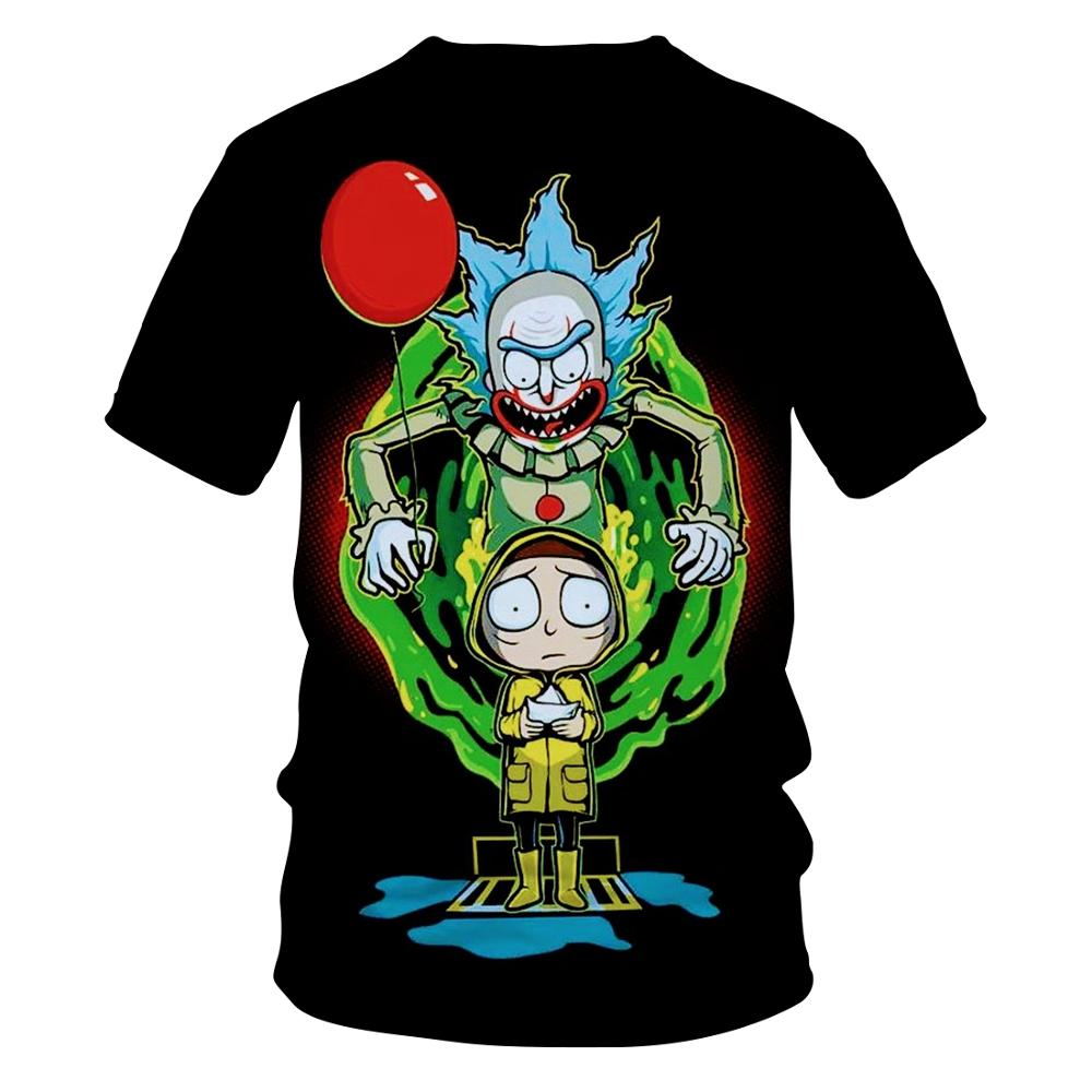 2020 New Morty Summer Fashion Brand T-shirts Cartoon Rick And Morty 3D Printed Men's/women's T-shirts Hip Hop T-shirts Blouses