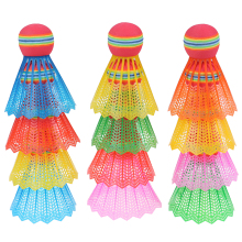 Head Badminton-Eva Entertainment Rainbow-Ball Nylon for Game-Sport with Transparent-Barrel