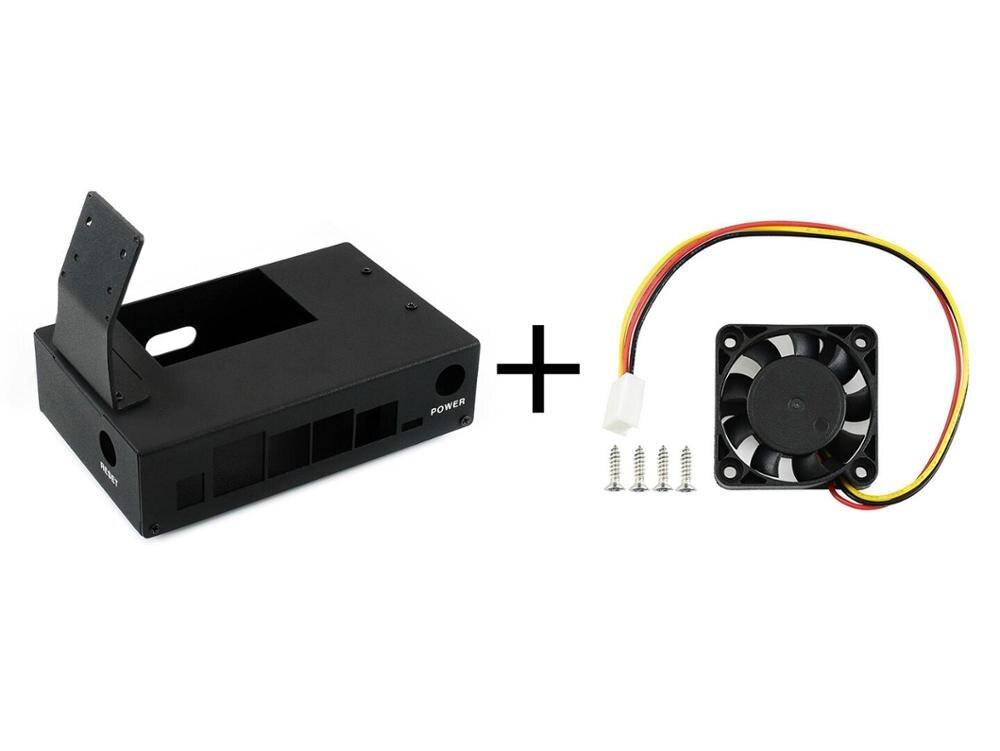 Waveshare Jetson Nano Case (B) (with Fan),Metal Case (Type B)  And  Dedicated Cooling Fan Fan-4010-5V For Jetson Nano