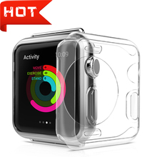 All-around Ultra-thin Cover for apple watch case 38mm Transparent soft watch case protector for iwatch serie 3 2 1 42mm accessoy ashei watch cover for apple watch 3 case 42mm 38mm series 3 2 1 soft slim tpu all around ultra thin screen protector for iwatch