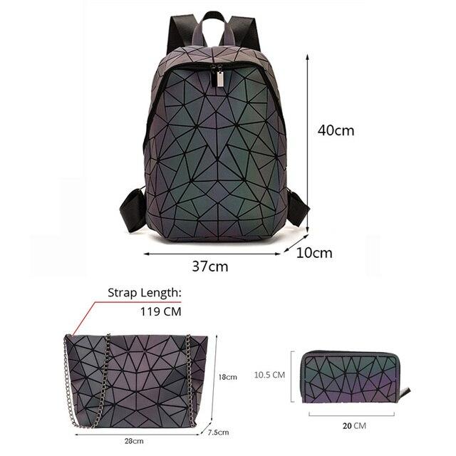 Luminous Backpacks Women Geometric Laptop Backpack 2