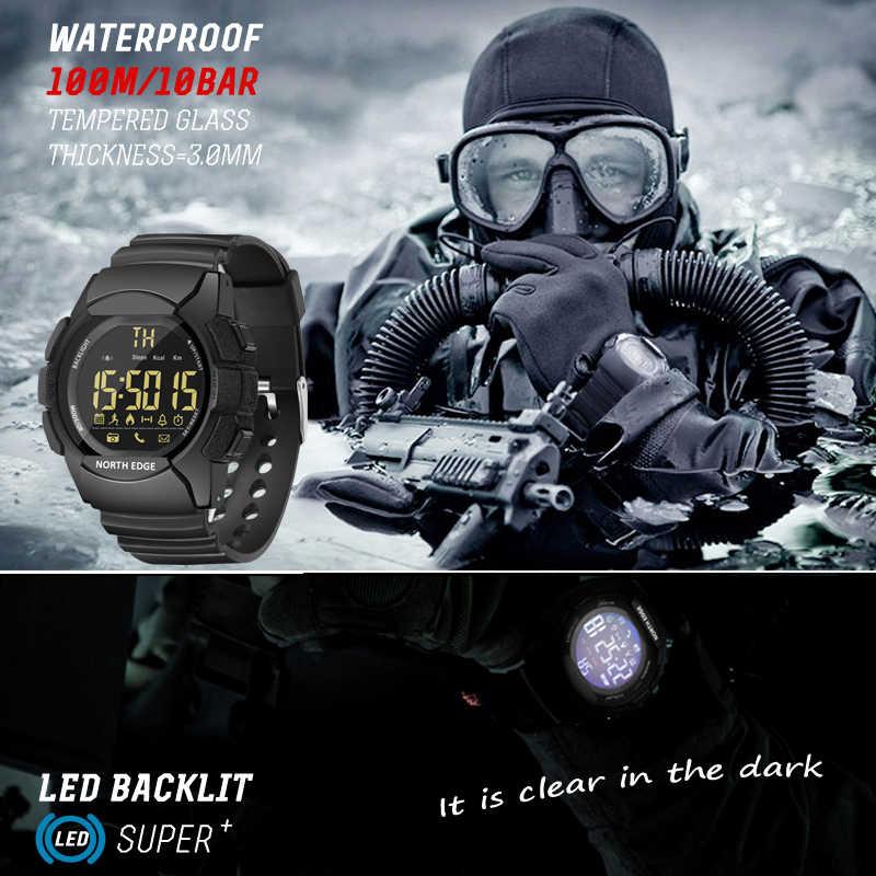NORD BORDO degli uomini LED Digital Orologi Impermeabile 100M Corsa e Jogging Sport Intelligente Orologio per IOS Android
