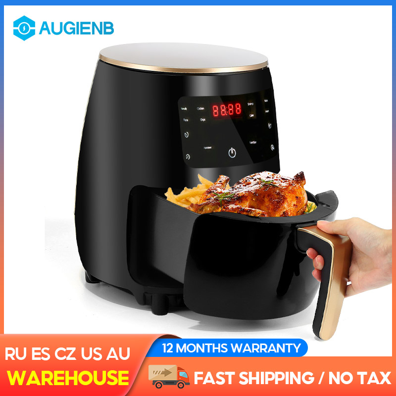 4.5L 1400W 220V Multifunction Air Fryer Oil free Health Fryer Cooker Smart Touch LCD Deep Airfryer Pizza Fryer for French fries