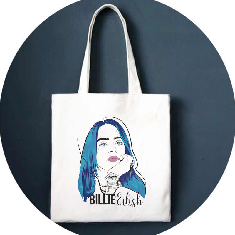 Billie Eilish impression sac à bandoulière Fun Harajuk sacs à cordon sac à main gothique sac à dos Hip Hop Ulzzang rue nouvelles femmes sac portefeuille