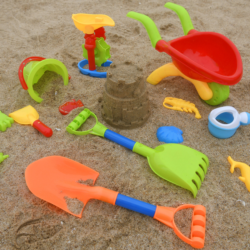 Summer Beach Sand Toys For Kids Baby Kids Tool Set With Table Kinetic Sand Bucket Beach Cart Brinquedo Praia Gifts CC50BT