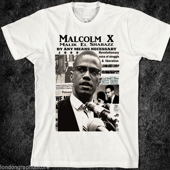 <font><b>Malcolm</b></font> <font><b>X</b></font>, <font><b>T</b></font> <font><b>Shirt</b></font>, Black History, Black Lives Matter, Black Panthers, SZ S-3XL, Back To The Future Anime Tshirt Camisas Hombre image