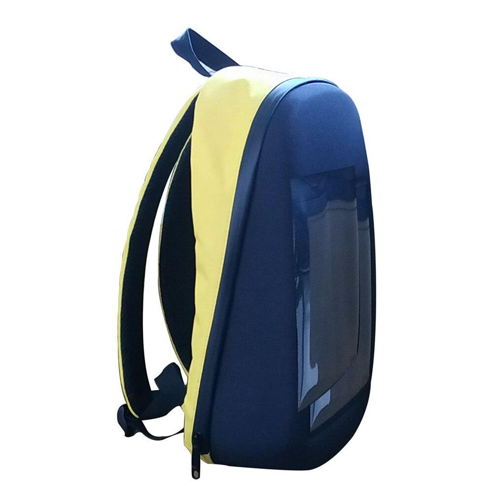 Mochila con pantalla LED Litake, DIY, inalámbrica, Wifi, Control de aplicación, mochila publicitaria, mochila LED para exteriores, cartelera para caminar