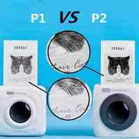 PAPERANG P2 Tasche Tragbare Bluetooth Foto Drucker Mini 300 DPI Thermische Label Aufkleber Drucker Für Handy P1 200 DPI