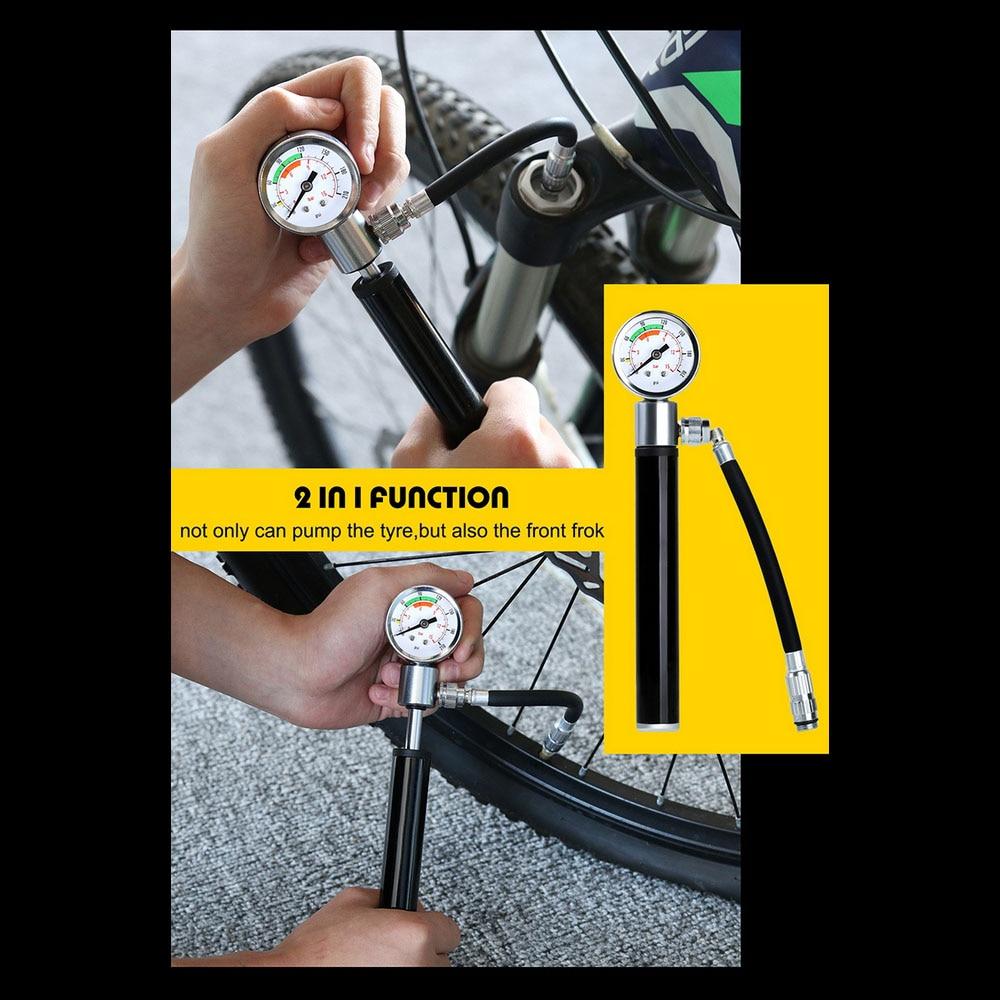 Купить велосипедный насос мини компрессор с соплом портативный велосипедный