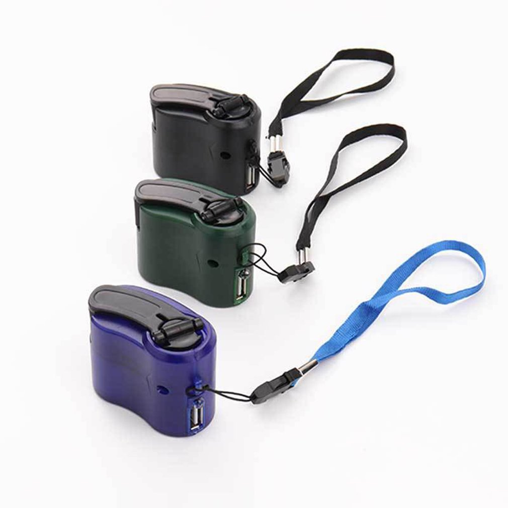 2020 Mobile Phone Emergency Power USB Hand Crank Charger Electric Generator Universal Mobile Charge Hand Dynamo Charging