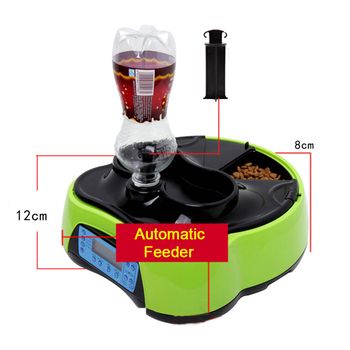 Pets Cat Automatic Feeder Dogs Drinking Train Puppy Water Feeding Food Bowls Pet Feed Plate Prato Cachorro Dog Supplies EE5GW