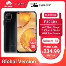 Huawei p40 lite smartphone versão global 6gb 128gb 48mp ai quard câmera 6.4
