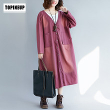 Printed Cardigan Loose Long Denim Sobretudo Feminino Trench Coat Oversized Feminine Spring Autumn Female Casual
