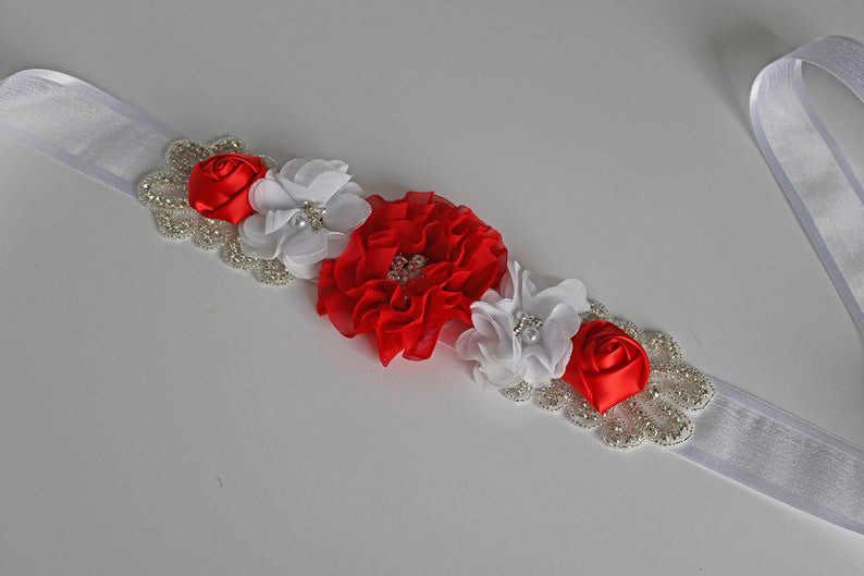 Vestido de casamento nupcial capa cintura etiqueta capa cintura chiffon sol flor cinto flor criança grávida mulher recém-nascido