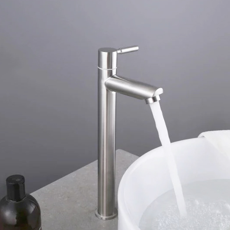 Image 2 - Stainless steel bathroom faucet basin mounted deck only cold tap rust and corrosion resistance of bathroom water tapBasin Faucets   -