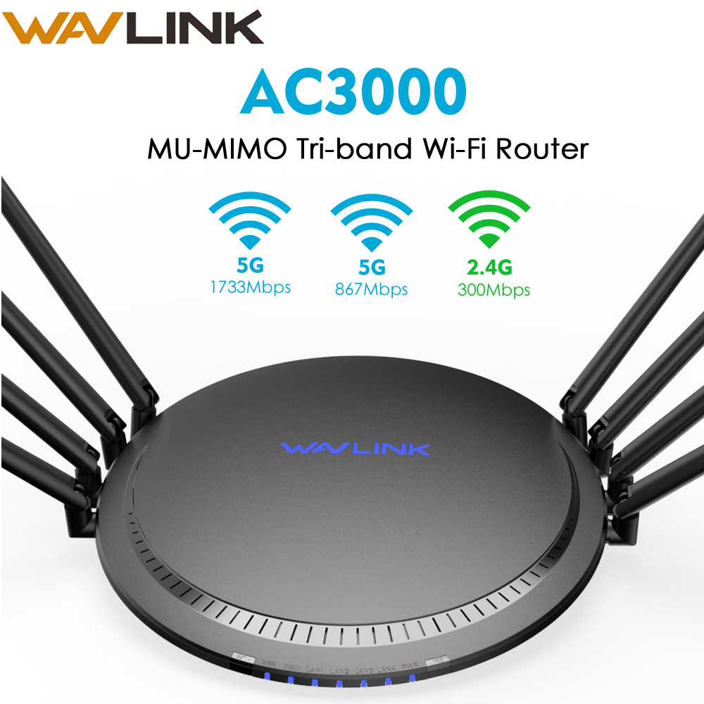 AC3000 Gigabit Tri band 2.4G/5G Wireless WIFI Router Home Wifi Range Extender Wireless Roteador Signal Boosters Online Working image