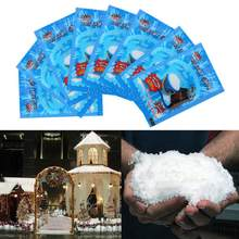 Artificial Snow Fake Magic Instant Fluffy Snow Super Absorbent Wedding Party Magic Props Christmas Decoration For Home(China)