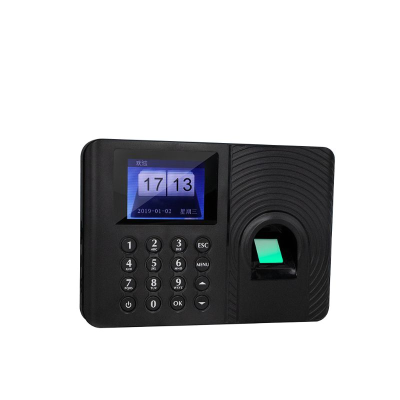 Fingerprint Fingerprint Attendance Machine Time Clock Employee Payroll Work Recorder USB Flash Disk Report Download 2.4inch LCD