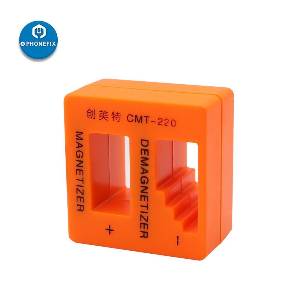 PHONEFIX Magnetizer Demagnetizer Orange Screwdriver Magnetic Pick Up Tool For Screwdriver Tweezers Gauss Degauss Repair Tools