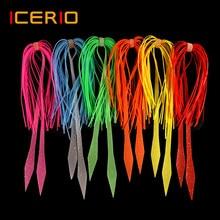 ICERIO-leurre de remplacement de la jupe en caoutchouc Silicone, 10 pièces pour remorque, pour la pêche à la turlutte, Tai Kabura, poulpe au calmar
