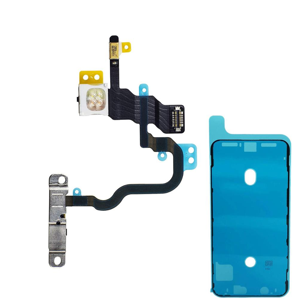 2PCS/set For IPhone X Power On Off And LED Flash Lights Flex Cable Assembly + Waterproof Anti-Dust Adhesive Glue Tape