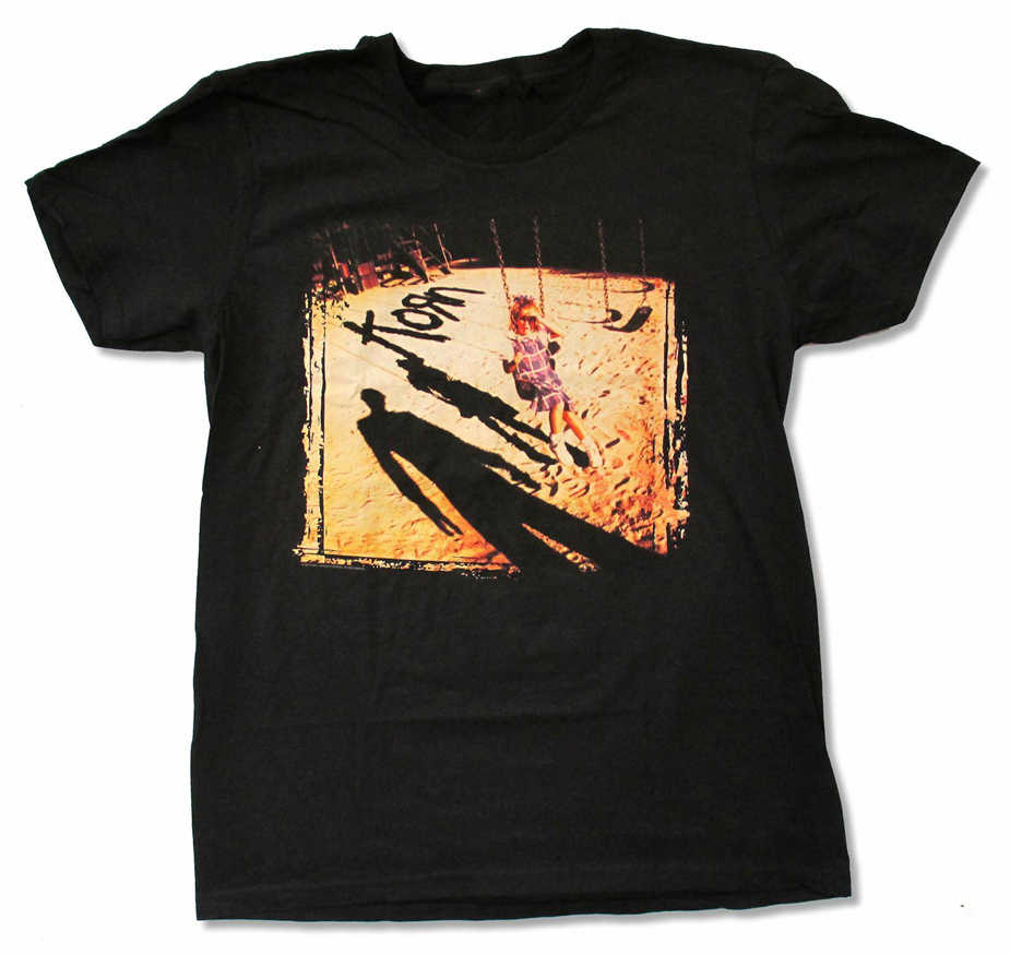 Korn Album Cover Self Getiteld Zwart T-Shirt Nieuwe Swing Volwassen Losse Size Top Tee Shirt