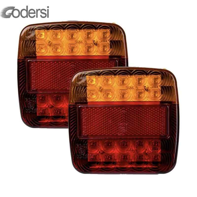 2pcs Waterproof Car Truck LEd Rear Tail Light Warning Lights Rear Lamp Tailight For Trailer Caravans Ute Caravans Campers Boat