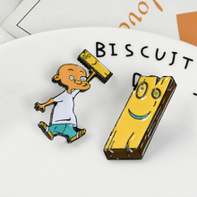 Jonny and Plank Enamel Pin Anime EEnE badge brooch Lapel pin Denim Shirt Collar Childhood Cartoon Jewelry Gift for friends