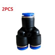 2pc 4mm 3 Way Aquarium Pneumatische Air Tube Slang Push In Connector Y Union Diy co2 Systeem component luchtpijp Deel Fitting Joiner(China)