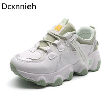 Women Shoes 2020 Chunky Sneakers Women Vulcanize Shoes Femme Platform Sneakers Trainers Casual Shoes Woman Brand Sneakers Green(China)