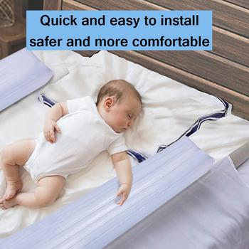 2PCS Safety Non Slip Bed Rails Bumpers for Toddlers Inflatable Water Resistant Bed Guardrail Crib Rail for Baby Home Travel 1