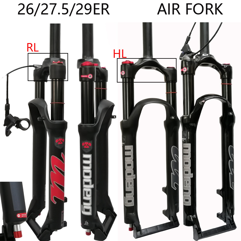 bicycle air fork 26 27.5 29inch MTB mountain bike suspension fork air resilience oil damping line lock for over image