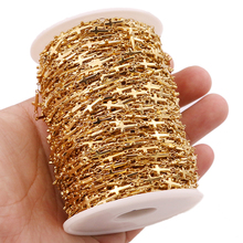 цены 1 Meter Stainless Steel Gold Color Cross Link Manual Chain for DIY Men Women Necklace Bracelet Anklet Making Jewelry Findings