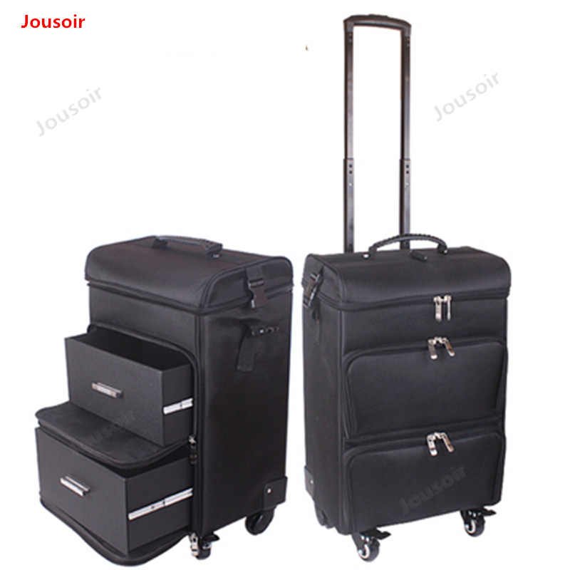 Cosmetic case trolley large capacity professional beauty tattoo nail toolbox universal wheel multilayer CD50 T03