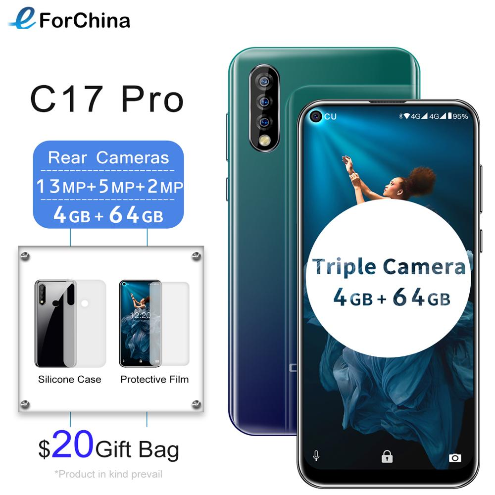 "Oukitel C17 Pro Android 9.0 Pie Smartphone Face ID 6.35"" Pole-notch Screen 4GB RAM 64GB ROM MT6763 Octa Core 4G Mobile Phone"