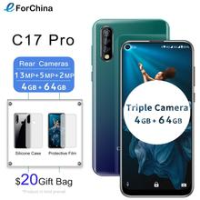 "Oukitel C17 Pro Android 9.0 Pie Smartphone Face ID 6.35"" Pole notch Screen 4GB RAM 64GB ROM MT6763 Octa Core 4G Mobile Phone"