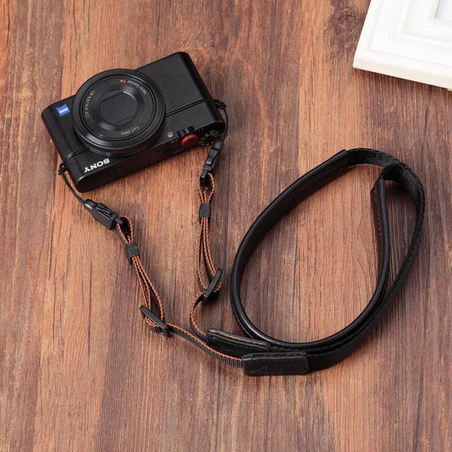 מקורי אמיתי עור + חגורה בעבודת יד מצלמה רצועת כתף צוואר חגורת עבור Canon/ניקון/סוני/פנסוניק/sigma/אולימפוס/פוג י