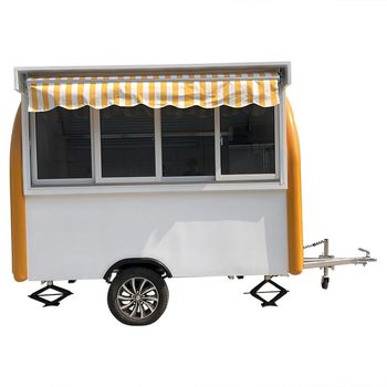 custom made food truck concession food trailer White/Yellow Food Truck Concession Food Trailer