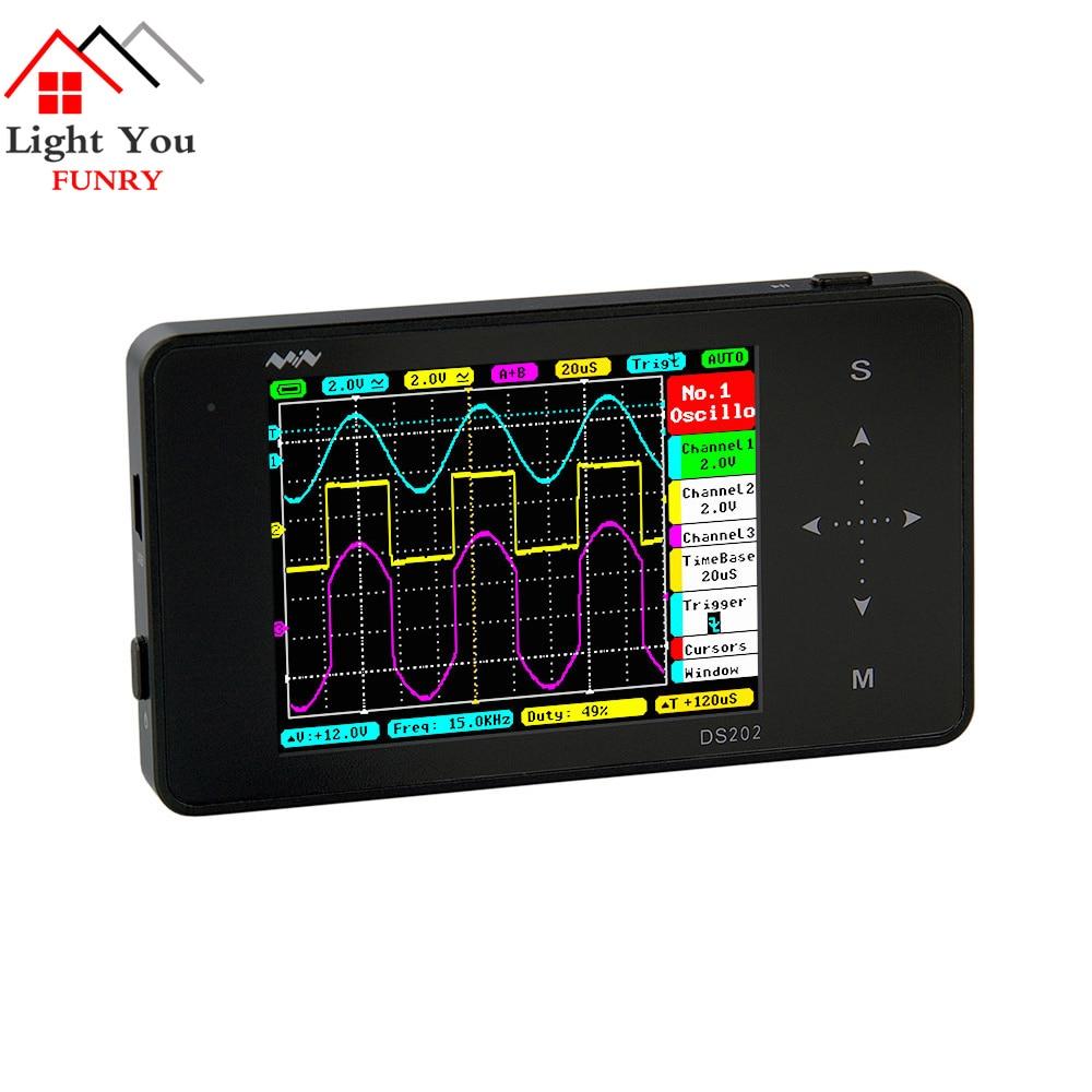 English menu Portable LCD Digital Multimeter Oscilloscope Touch Screen USB 1MHz Pocket 8MB Handheld Automotive Osciloscopio